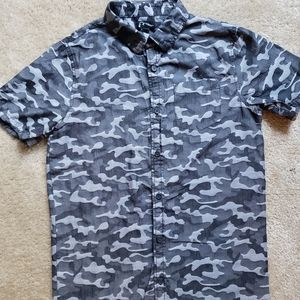 Other - Boys gray  button down shirt size L